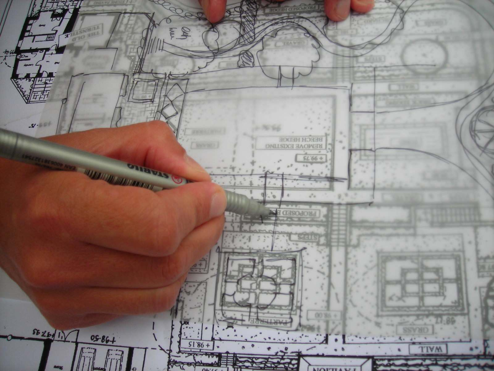 Nicholsons of Oxfordshire: our garden design process: producing garden design plans