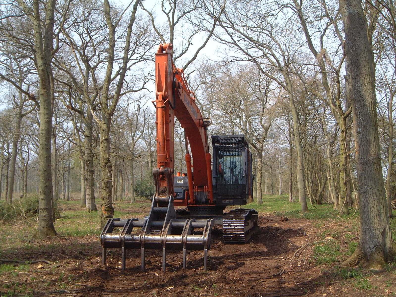 hymac_thinned_woodland_ground_preparation