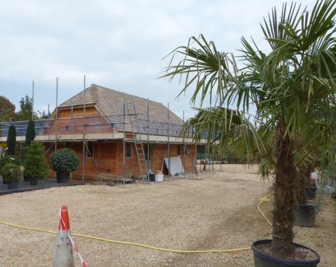Development Work on Kitchen for Yurt Cafe at Nicholsons