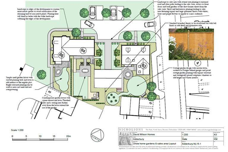 Nicholsons Garden Design for David Wilson Homes