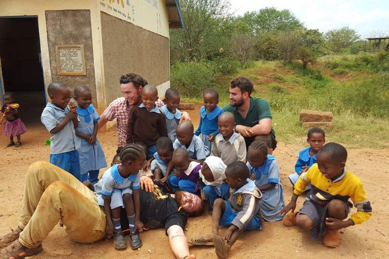 Spending time with the children in Kenya supporting the Rafiki Thabo project