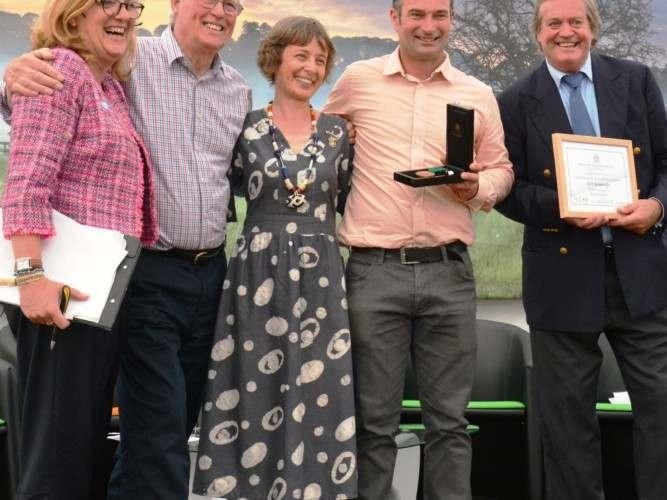 Tim Shardlow attends lifetime achievement award for Nick Bainbridge
