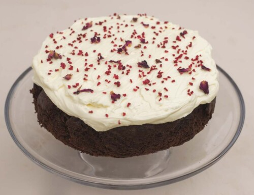 June – Chocolate and Raspberry Cake with a Cream Cheese, Mascarpone Topping