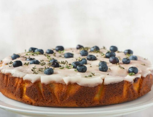 August – Blueberry, Lime & Lemon Thyme Cake