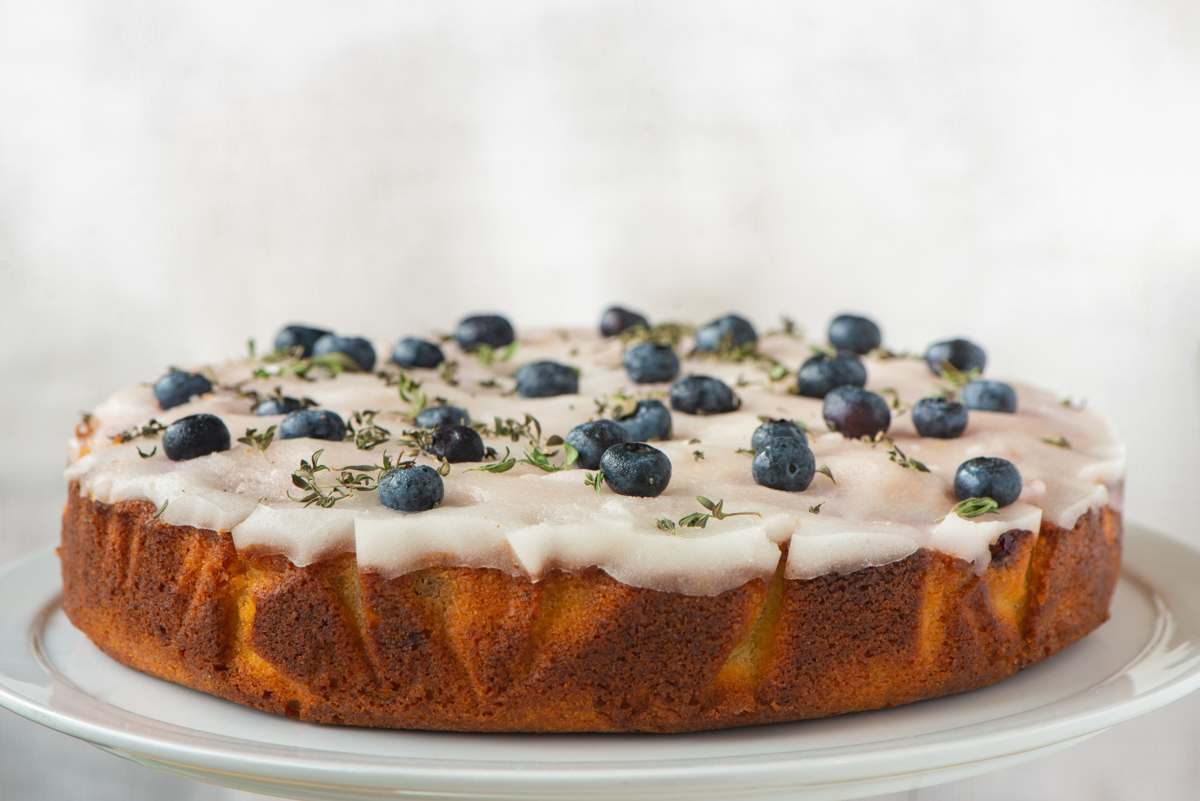 August - Blueberry, Lime & Lemon Thyme Cake