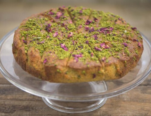 July – Pistachio & Rose Semolina Cake