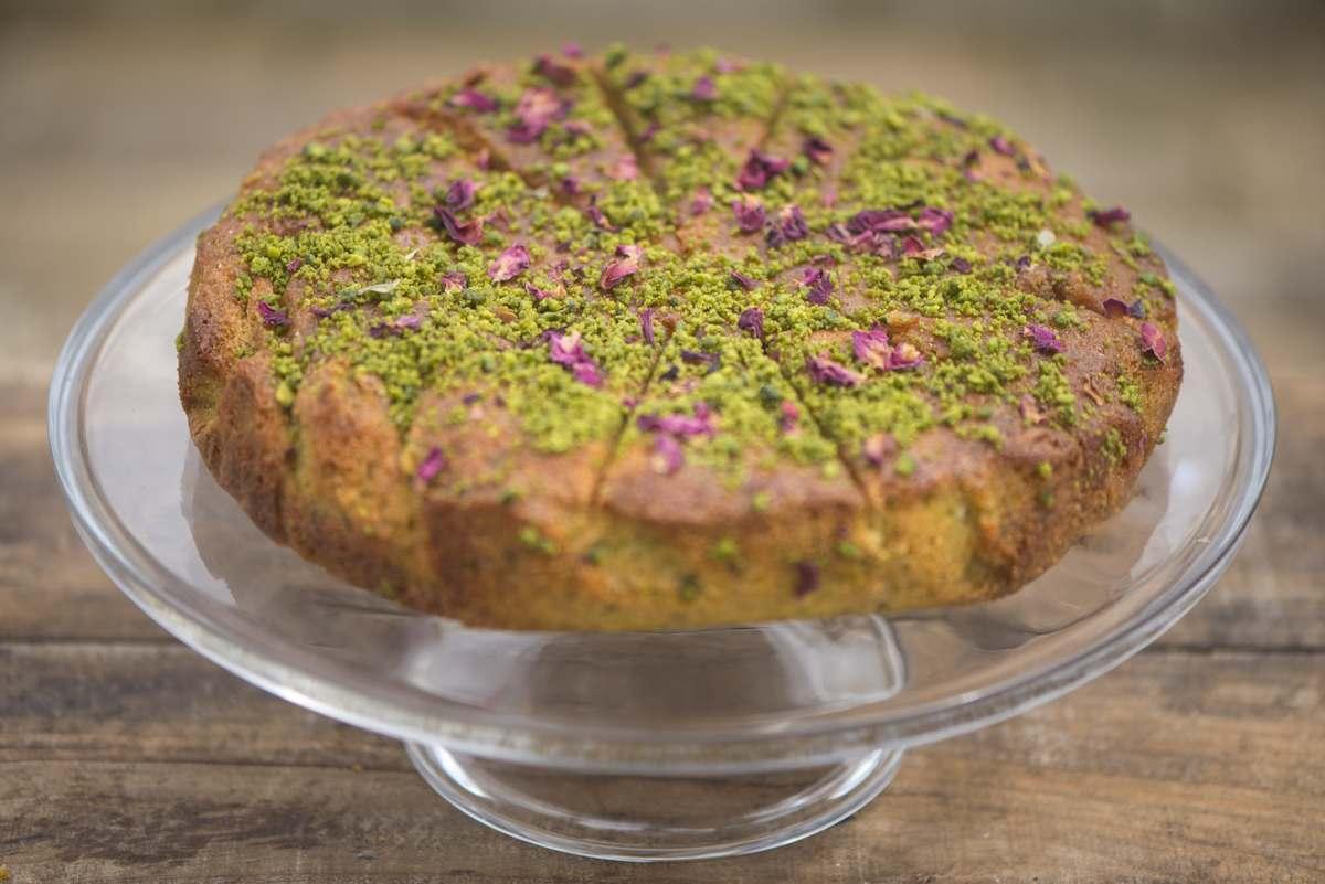 July - Pistachio & Rose Semolina Cake