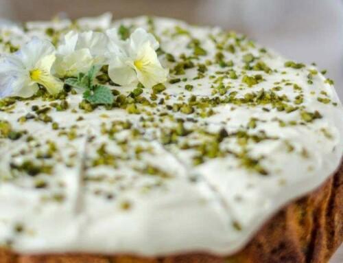 May – The Royal Lemon, Pistachio and Elderflower Cake