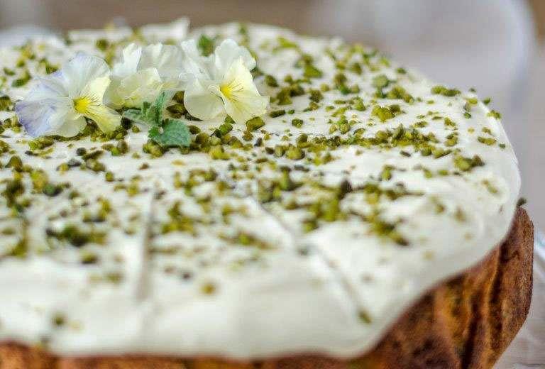 May - The Royal Lemon, Pistachio and Elderflower Cake