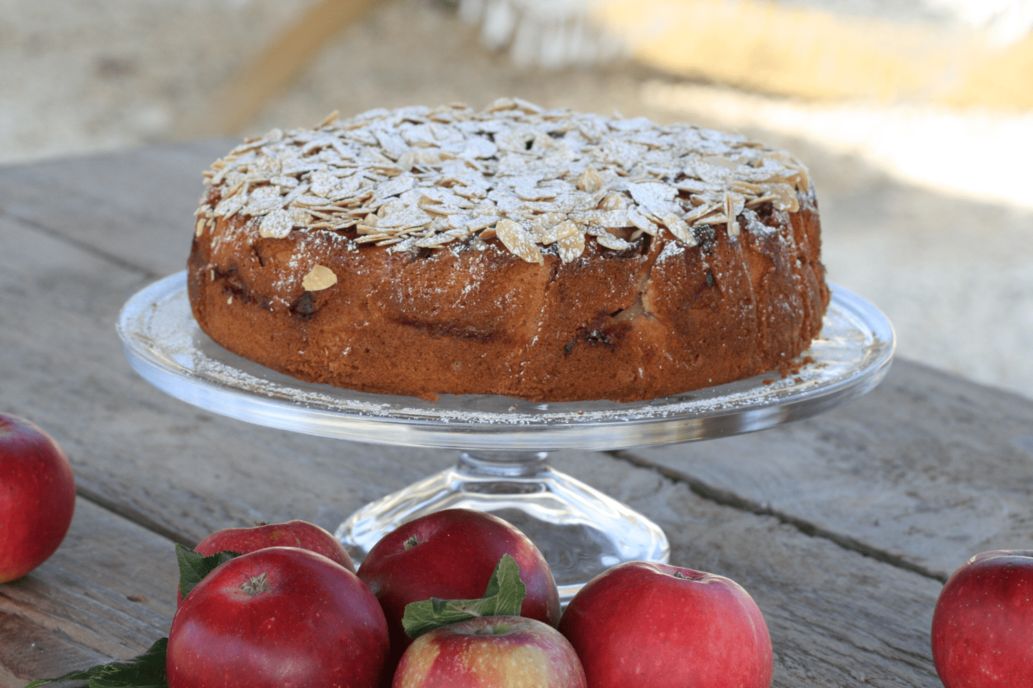 September - Apple & Almond Cake